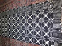 handwoven wool coverlet