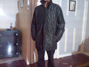 Mens XL winter coats goose down and leather very cheap