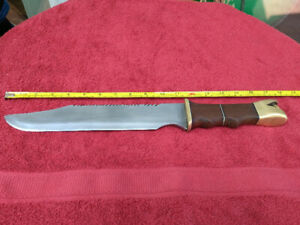 Custom Made Rambo with T1 Steel with Snake Head Design Handle
