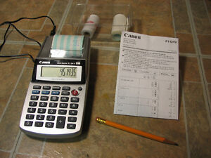 Handy Sized Printing Calculator and Paper