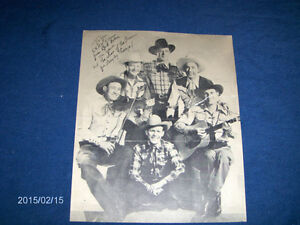 THE SONS OF THE PIONEERS-C.K.N.W. RADIO-SIGNED PHOTO-BOB NOLAN+