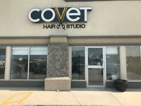 STYLISTS CHAIR FOR RENT AT COVET HAIR STUDIO