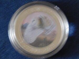 8-270 - 2013 CANADA 25 CENT COLOURED BARN OWL.