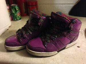 Purple women's Osiris shoes