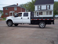 2013 FORD  F-350 XLT-CREW CAB-& 9ft. FLAT DECK # 910