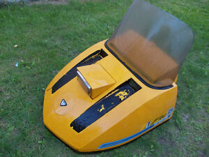 1972 Ski-doo Olympique Snowmobile Hood with Windshield