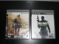 call of duty mw3 et modern warfare 2 ps3