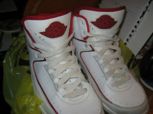 nike jordan high back running shoes white and red