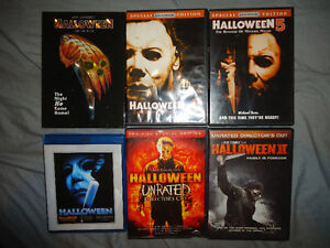 HALLOWEEN DVDS AND BLURAY