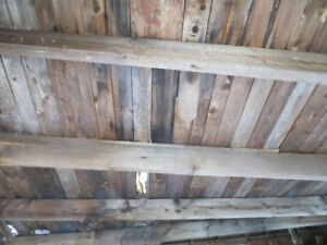 FREE CAMP OR SHED WITH ALOT OF GOOD BARN BOARDS AND BEAMS