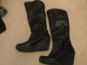 Cute wedge boots