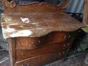 Antique dresser with lock and keys
