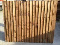 Bargain feather edge close board panels