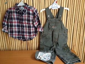 Baby Gap overall + Old Navy shirt for 12-18 month old
