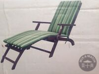 New in box 2 steamer garden loungers