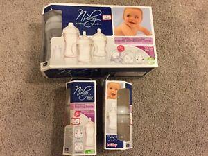 New- Fischer Price Baby playpen, mobile and bottles