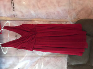 Red bridesmaids dress - size 16