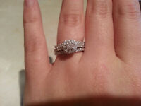 Lost engagement ring set