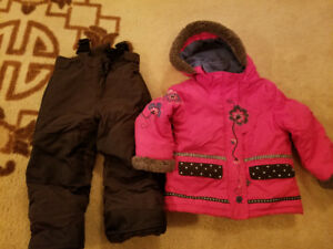 Winter suit girl  Peluche &Tartine 3 year old