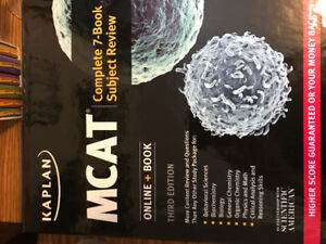 MCAT Text Books- Kaplan Third Edition