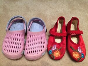 Toddler size 7 girl shoes and sandals