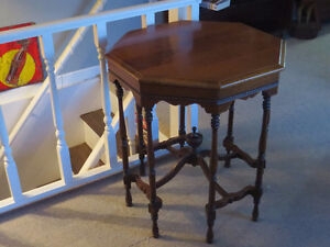 """1895-1905 Gothic Occasional Table """"HFX Hoarders and Collectors"""""""