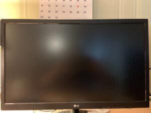 """24"""" 60hz LG monitor. 2 months old."""