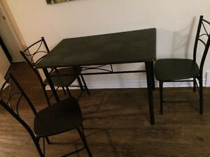 DINING SET WITH 3 CHAIRS