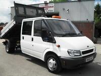 FORD TRANSIT CREW D/CAB 115PS TIPPER, 68K MILES ONLY, NEW MOT, VERY CLEAN, L@@K!