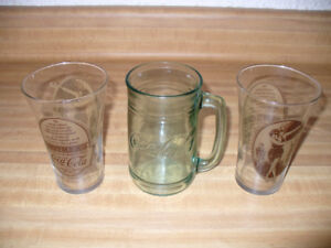 VINTAGE COCA-COLA GLASSES and MOTHERS RESTAURANT