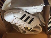 Brand new genuine Adidas Superstar Trainers size 4.5
