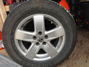 4 VW rims and tires