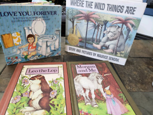 Classic Vintage children's book lot Hard Cover Where the wild t
