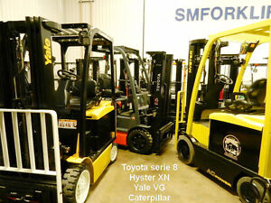 chariots élévateurs Toyota Yale Hyster Cat used forklifts