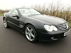 MERCEDES BENZ SL350 3.7 AUTOMATIC CONVERTIBLE AMG STYLING - BLACK/CREAM LEATHER