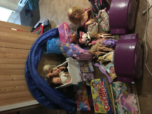 Big lot of little girls toys