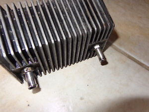 Harley oil cooler with 3/8th lines-  recycledgear.ca