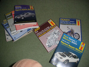 Various Haynes Car Manuals and Motorcycle Manual