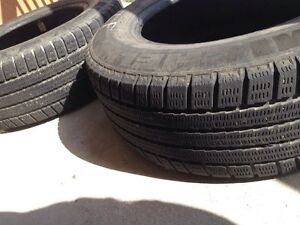 2 Michelin winter tires 205/65 R 15 - $80 for both  London Ontario image 1