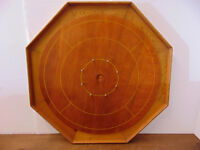 Refinished Crokinole Board & Playing Pieces