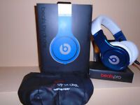 Beats Headphones Beats by Dr Dre limited edition blue white pro