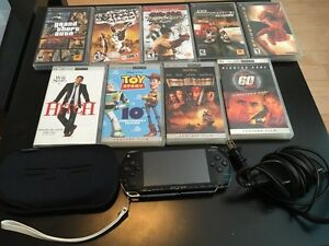 PSP with games and movies