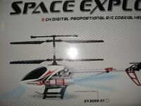 SPACE/EXPLORER HELICOPTER almost 4 ft long