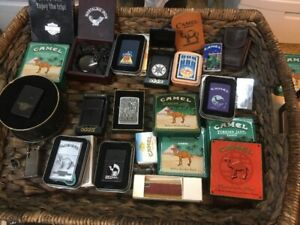COLLECTION OF CIGARETTE LIGHTERS AND SMOKING COLLECTIBLES