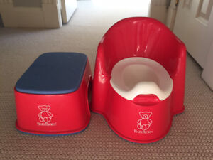 Baby Bjorn Red Potty and Stool