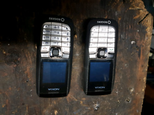 Two Nokia cell phones