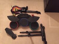 PS3 Guitar Hero drum set and guitar - OTO