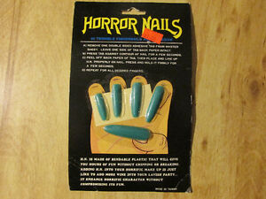Vintage Halloween Costume Prop HORROR NAILS Thinkway Toys