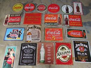 METAL SIGN COLLECTION FOR MANCAVE, 30 YEARS COLLECTING