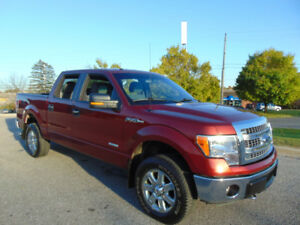 2014 FORD F-150 XTR. CREW 4X4, ONE OWNER, EXT. FORD  WARRANTY!!
